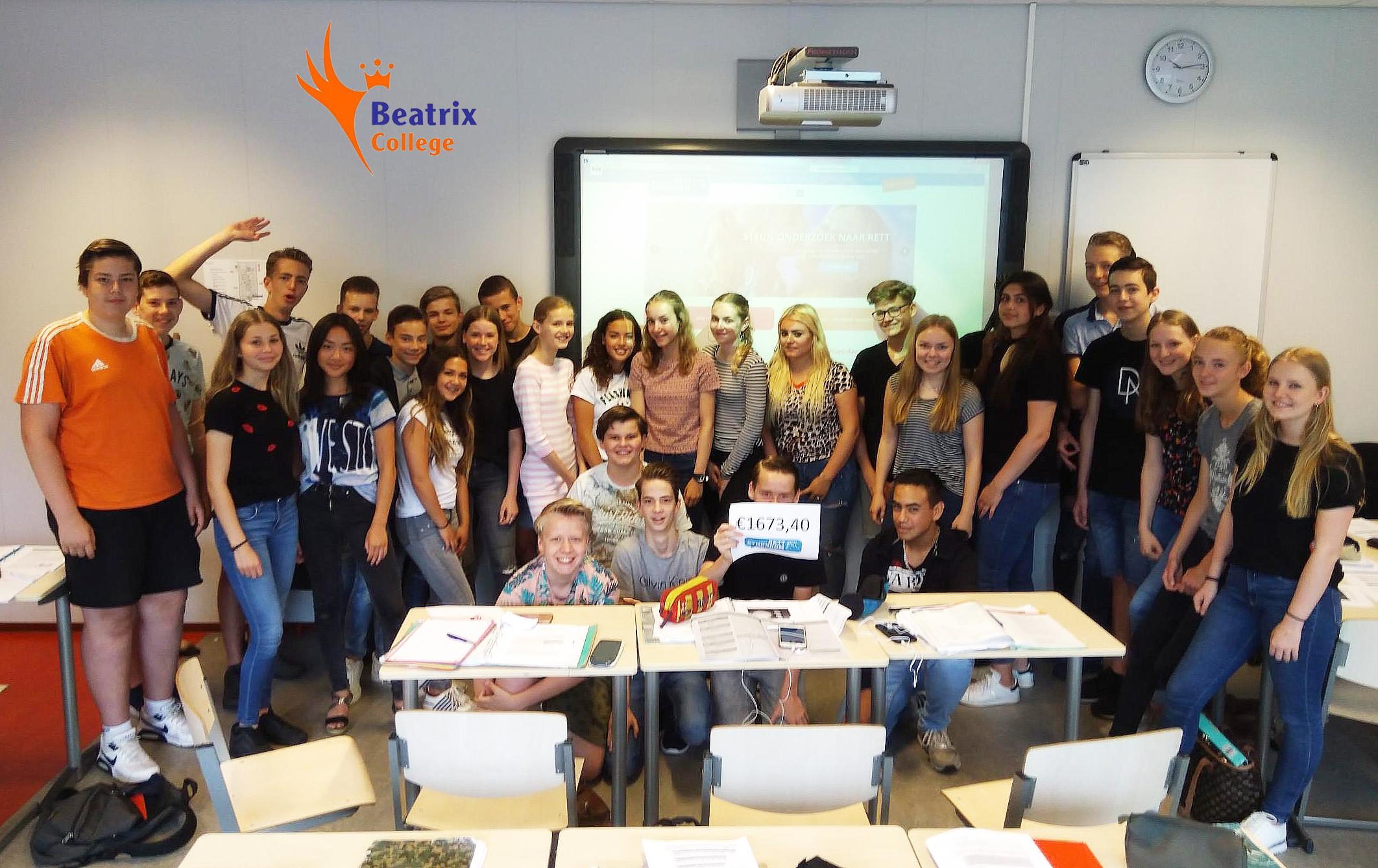 Donatie Van €1673,40  Door Beatrix College Tilburg